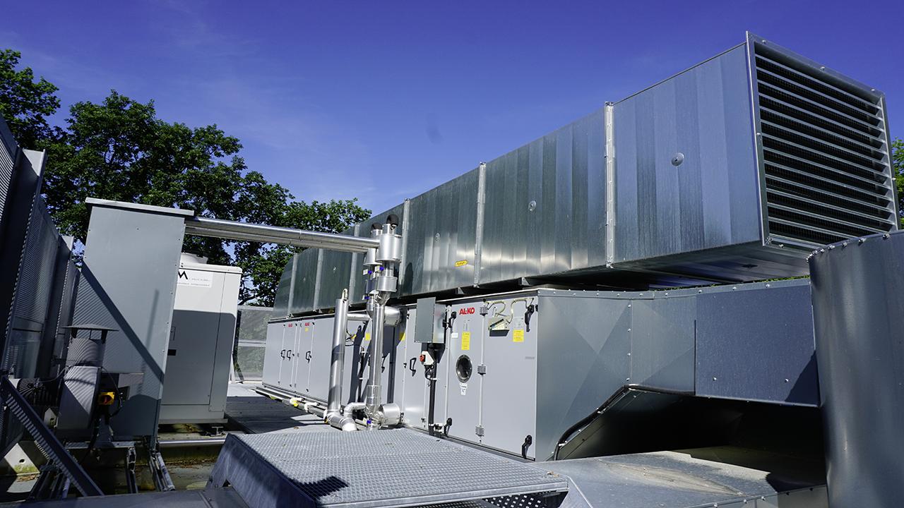 Dach - Zentrales Lüftungsgerät
